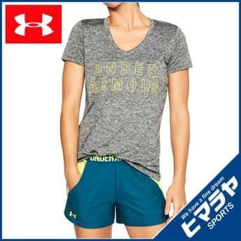 アンダーアーマー Tシャツ 半袖 レディース テックグラフィックツイストVネック トレーニング WOMEN 1309898-952 UNDER ARMOUR