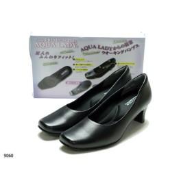 [ストアのイチオシ]靴 レディースAQUA LADY アクアレディ 9060 幅広 3Eプレーンパンプス オフィス リクルート 就活 通勤 冠婚葬祭