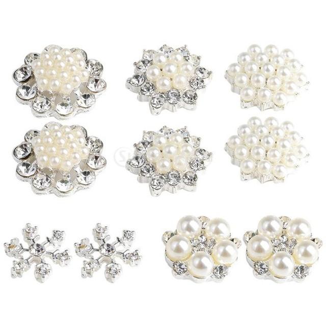 10本 ラインストーン クリスタル 花形 手芸素材 DIYジュエリー フラットバック 装飾ボタン ハンドメイク
