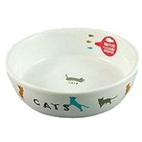 マルカン CT−204 猫用陶器食器遊ぶ猫 646223