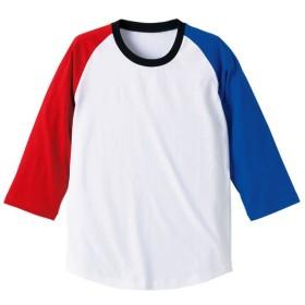 UnitedAthle ユナイテッドアスレ 5.0オンス ラグラン3/4スリーブTシャツ(アダルト) 540401 RD/RBL/BK/WH