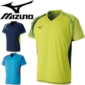 ゲームシャツ 半袖 メンズ レディース ミズノ mizuno バドミントン ソフトテニス テニスウェア ラケットスポーツ 練習着/72MA8007【取寄】【返品不可】