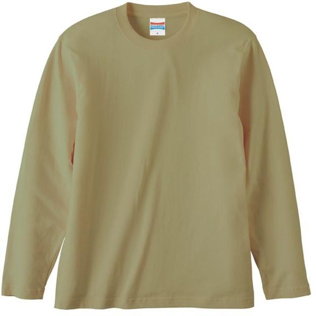UnitedAthle ユナイテッドアスレ 5.6オンス ロングスリーブTシャツ(アダルト) 501001C サンドカーキ