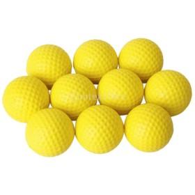 10個入り ゴルフ PU 練習用ボール ゴルフボール 柔軟 イエロー