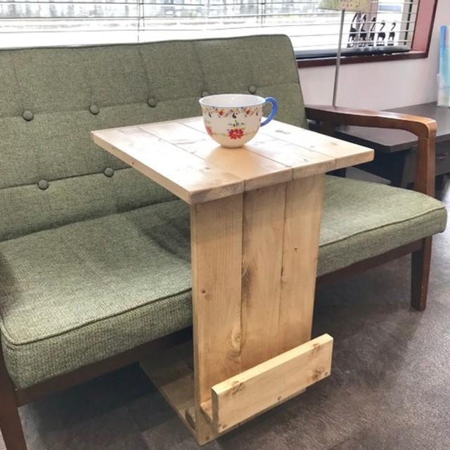 西海岸スタイル シャビーソファーサイドテーブル オールドパイン