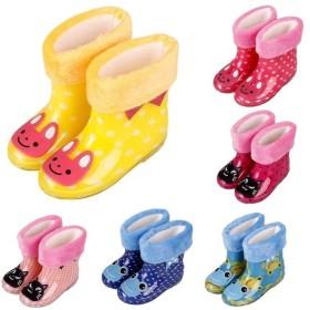 子供用 長靴 レインブーツ 中ボア レインシューズ フェイクファー 防寒 寒さ対策 暖かい あったかい 雨 雪遊び 男の子 女の子 男児 女児 ベビー