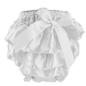 ノーブランド品 赤ちゃん おむつカバー 出産祝い ベビー ギフト プレゼント ショーツ パンツ ボウ 飾り (ホワイト)