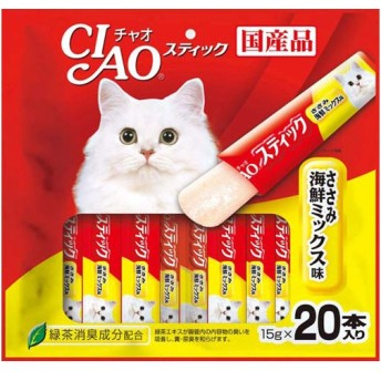 いなばペットフード CIAO チャオ スティック ささみ 海鮮ミックス味 15g×20本 ◇◇