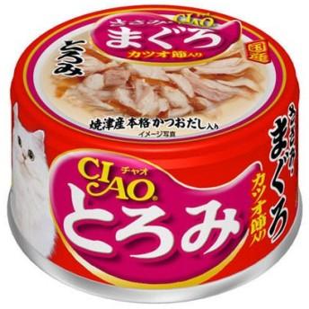 いなば CIAO(チャオ)猫用とろみ ささみ・まぐろ カツオ節入り 国産 80g 12缶