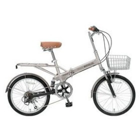 マイパラス 折りたたみ自転車 20インチ 6段変速 Wサス M-60B-CP シャンパン
