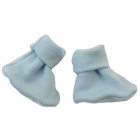 【未熟児】【低出生体重児】【早産児】【NICU】用 ベビー服:ブーティーソックス ブルー