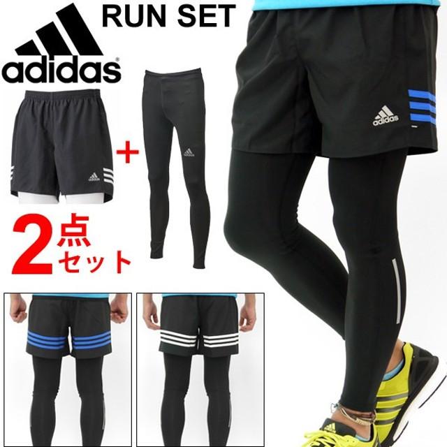 137158ddd86e7 メンズ/メンズランニングウェア 2点セット タイツ&ショートパンツ adidas/アディダス