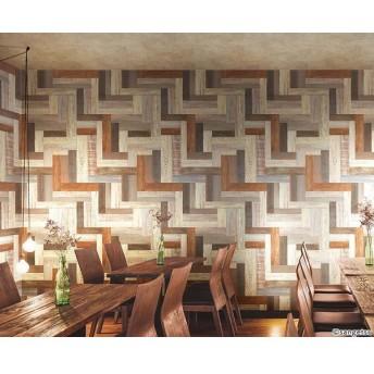 壁紙 のり付き のりなし サンゲツ ウッド カラフル木目柄 RE-7525