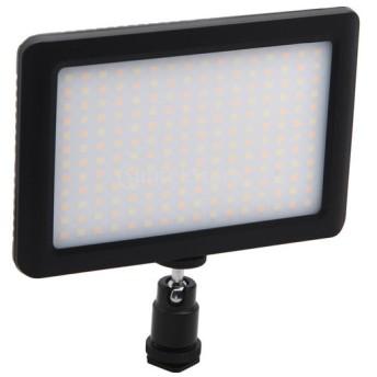 ノーブランド品 DSLRカメラスタジオ適用 12W 1350Lux 192 LED ビデオライト 調光 90度調整ホルダー ホットシュー付き