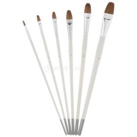 6本セット ペイント用具 絵画ブラシ アクリル筆 油絵筆 水彩筆 平筆 画材筆 芸術家
