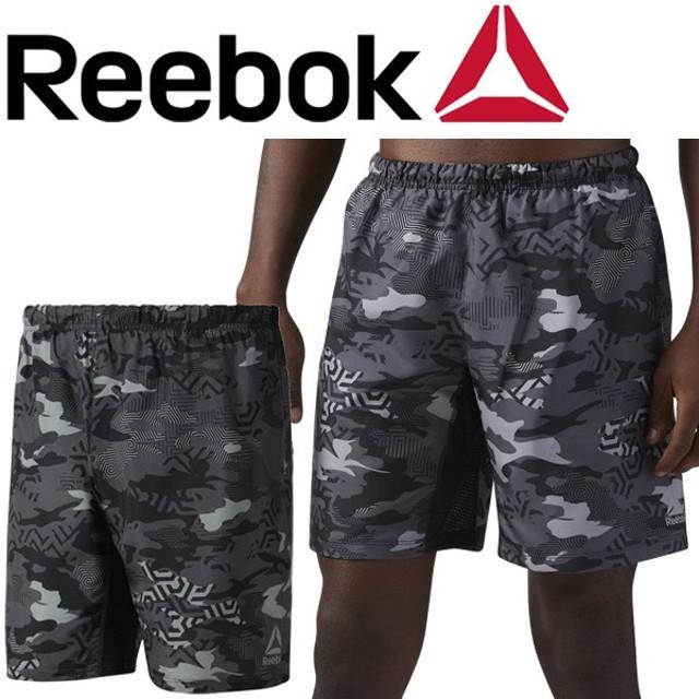 ランニングパンツ メンズ リーボック Reebok 8インチ グラフィックショーツ 男性用 ハーフパンツ インナー一体型 ジョギング/DRG03
