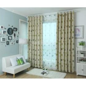 100  250センチメートル葉のパターンの窓の部屋遮光パネルブラックアウトカーテンドレープグリーン
