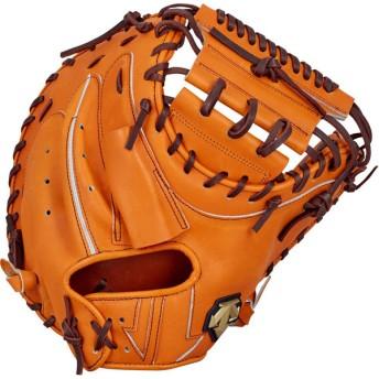 デサント(DESCENTE) 硬式野球用グラブ キャッチャーミット 捕手用 DBBLJG42 オレンジ