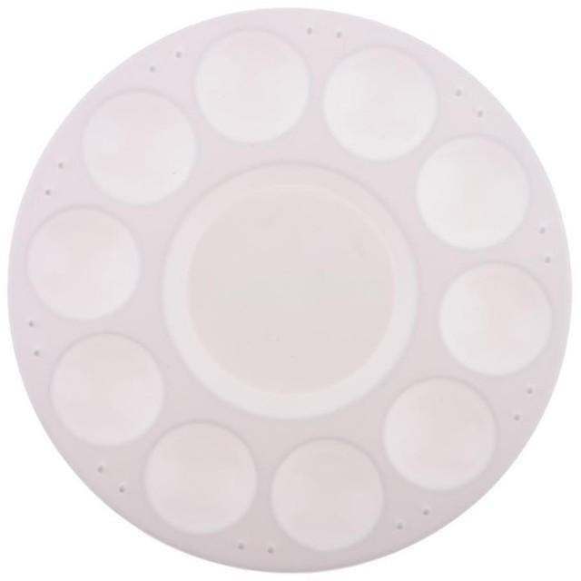軽量 便利 耐久 アクリル アートパレット 絵の具 水彩パレット 5サイズ選択 - 17cm