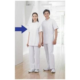 住商モンブラン レディス医務衣(ケーシージャケット) 半袖 ホワイト S A72-362
