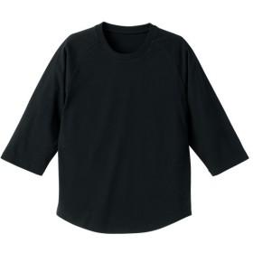 UnitedAthle ユナイテッドアスレ 5.0オンス ラグラン3/4スリーブTシャツ(アダルト) 540401 ブラック