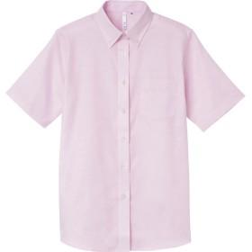 トムス TOMS 半袖オックスフォードシャツ レディース WS〜WL 00806‐SOL 00806 ライトピンク