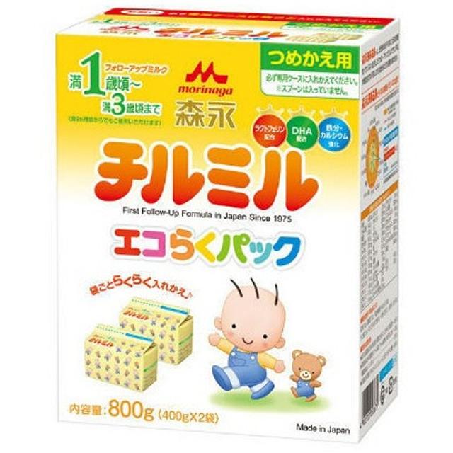 1歳頃から 森永 フォローアップミルク チルミル エコらくパック つめかえ用 800g(400g×2袋) 1箱 森永乳業