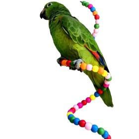 バードトイ オウム インコ 鳥 おもちゃ 小型 中型 大型 木製 ビーズ 吊り下げ 止まり木 フレキシブル かじり木 パーチ カラフル ブランコ