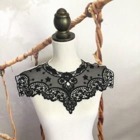 衿レース 黒 / Collar lace black color