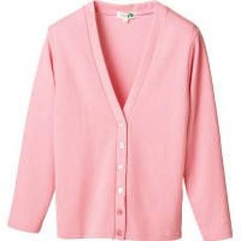 D-PHASE(ディーフェイズ) Vネックカーディガン 女性用 長袖 ピンク L C04