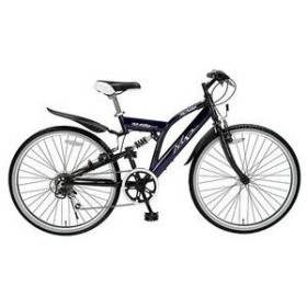 マイパラス 自転車/クロスバイク 26インチ 6段変速 リアサス TypeII M-650-2NV ネイビー