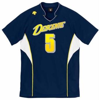 デサント(DESCENTE) 半袖ゲームシャツ(ユニセックス)_DSS-4823 DSS4823 ネイビー