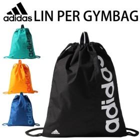 メール便対応/アディダス adidas/ジムサック LIN PER GYMBAG シューズバッグ ランドリーバッグ ビッグロゴ ジムバッグ ナップサック /MII12-