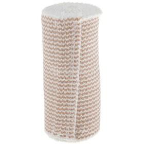 弾性圧縮包帯 ブレースガード スポーツパッド 通気性良好 男女兼用 綿製 ベージュ 全2サイズ選べ - 10cmx4.5m