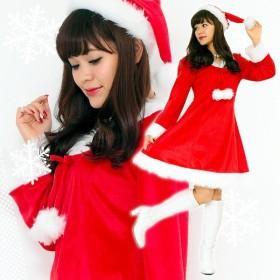 サンタ コスプレ レディース 〔Peach×Peach スイートサンタクロース ワンピース〕 サンタ 衣装