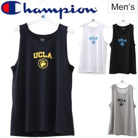 タンクトップ メンズ チャンピオン Champion UCLA スリーブレス TEE バスケットボールウェア 男性用 袖なし 練習着 部活 クラブ/C3-MB363