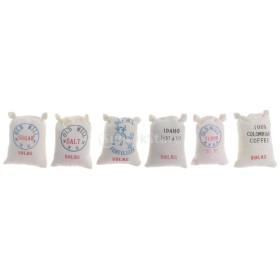 布 PPコットン製 1/12ドールハウス ミニチュア キッチンフード 小麦粉 ジャガイモ 装飾 6袋