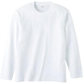 UnitedAthle ユナイテッドアスレ 5.6オンス ロングスリーブTシャツ(アダルト)ホワイト 501001W ホワイト