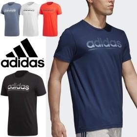 Tシャツ 半袖 メンズ/アディダス adidas FADING リニアロゴ Tシャツ/トレーニングシャツ ジム 男性 カジュアル トップス スポーツウェア/ELG80