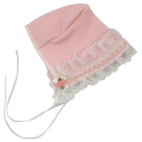 【未熟児】【低出生体重児】【早産児】【NICU】用 ベビー服:ボンネット帽子 ローズ