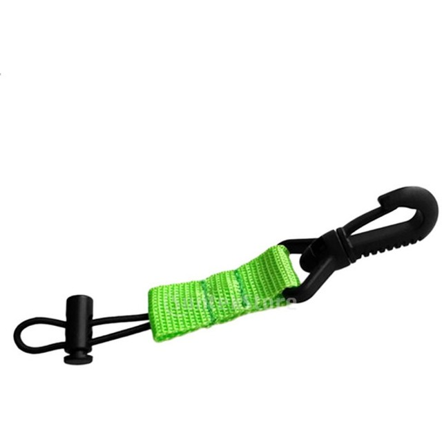 ウェビング付き スキューバ ダイビング マウス ピース ホルダー リテーナ 全4色 - 緑