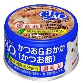 いなば CIAO(チャオ)猫用 ホワイティ かつお&おかか(かつお節)国産 85g 12缶