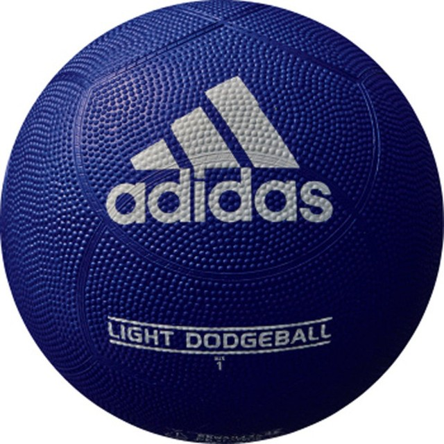 adidas アディダス ライトドッジボール1号球 紺×赤 AD110BR