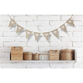 装飾用 結婚式 パーティー バナー ホオジロジュート 黄麻布の生地