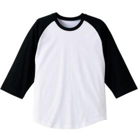 UnitedAthle ユナイテッドアスレ 5.0オンス ラグラン3/4スリーブTシャツ(アダルト) 540401 ホワイト/ブラック