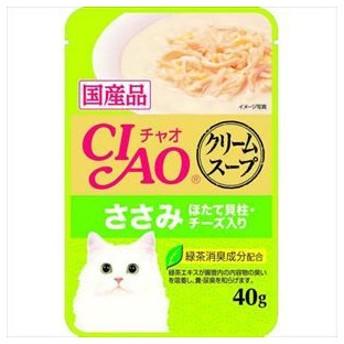 チャオ スープクリームスープ ささみ ほたて貝柱・チーズ入り 40g いなばペットフード 代引不可