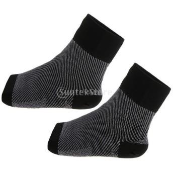 圧迫 腕サポート 靴下 ユニセックス ソックス 腫れ軽減 快適 ソフト 着やすい M / L 黒 全2サイズ選べ - m