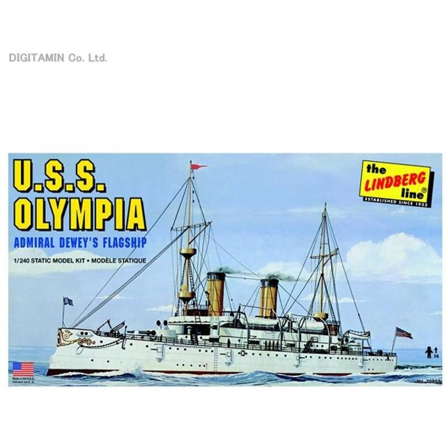 1/240 アメリカ海軍 防護巡洋艦 オリンピア プラモデル リンドバーグ HL402(ZS16493)