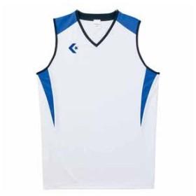 コンバース ゲームシャツ(ホワイト/ Rブルー・2XO) CONVERSE CB251701-1125-2XO 返品種別A