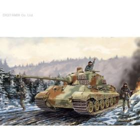 ドラゴン 1/35 Sd.Kfz.182 キングタイガー ヘンシェル砲塔 w/新型履帯 アルデンヌ1944 プラモデル DR6232(ZS06131)